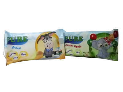 Мокри кърпички за деца PURE