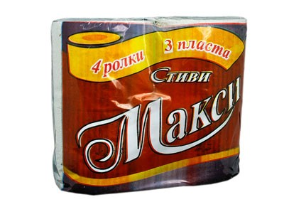 Тоалетна хартия Стиви Макси – трипласова