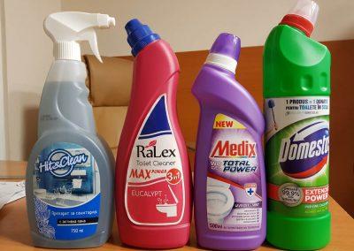 Продукти за баня и санитария