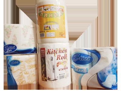 продукти собствено производство - тоалетна хартия, кухненски ролки, салфетки