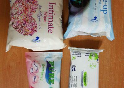 Интимни и кърпи за грим,джобни