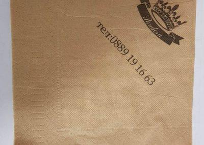 Салфетки бели меки 33/33,1 пласт,ЕКО,лукс,с печат до 2 цвята
